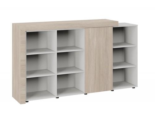 Auttica 3-Level Part-Closed Storage Unit Madrid Oak Grey