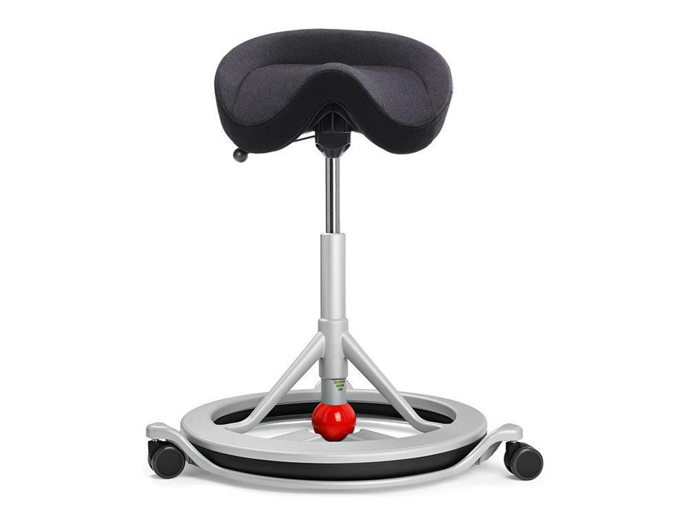 Silver Grey Back App with Wheels and Red Ball in Nordic Wool