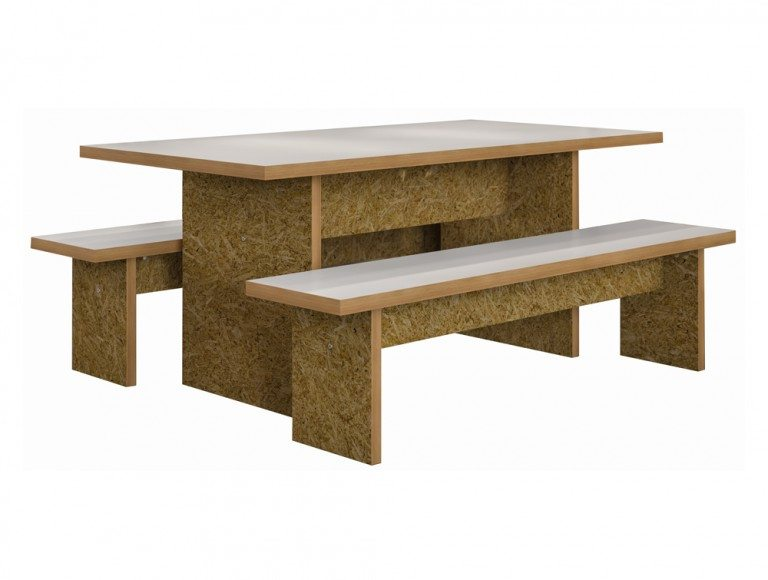 Block Classic Canteen Table and Benches