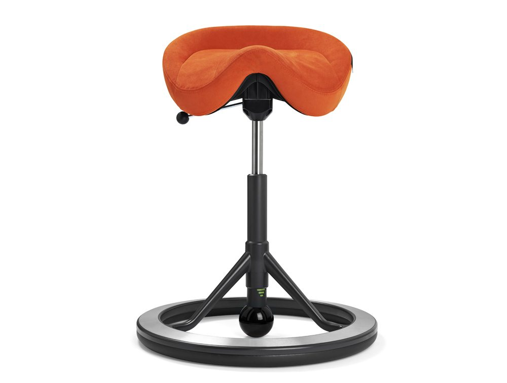 Back App with no Wheels and Black Ball in Light Orange