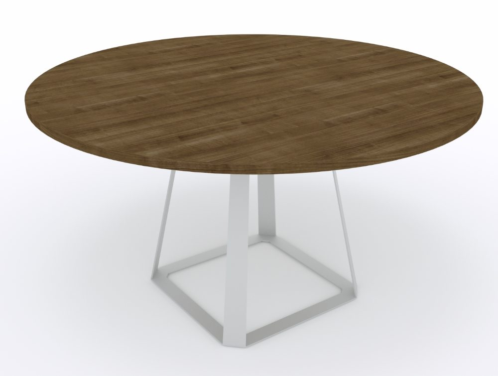 Balma H2 Round Coffee Table With Metal Base Reception Tables