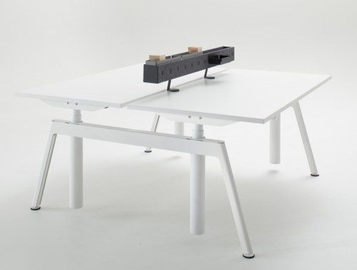 Balma Plus Electric Sit Stand Desk White
