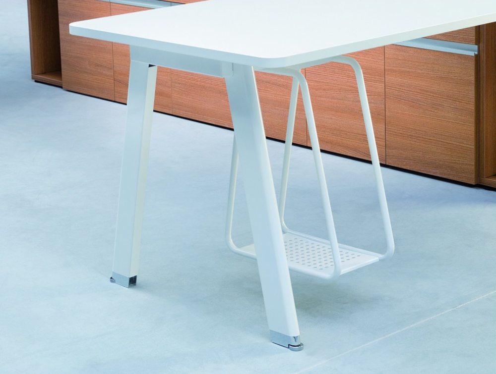 Balma Simplic Executive Desk White with Under Desk Storage