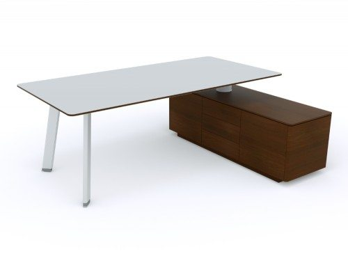 Balma Simplic Executive Desk with Credenza Unit