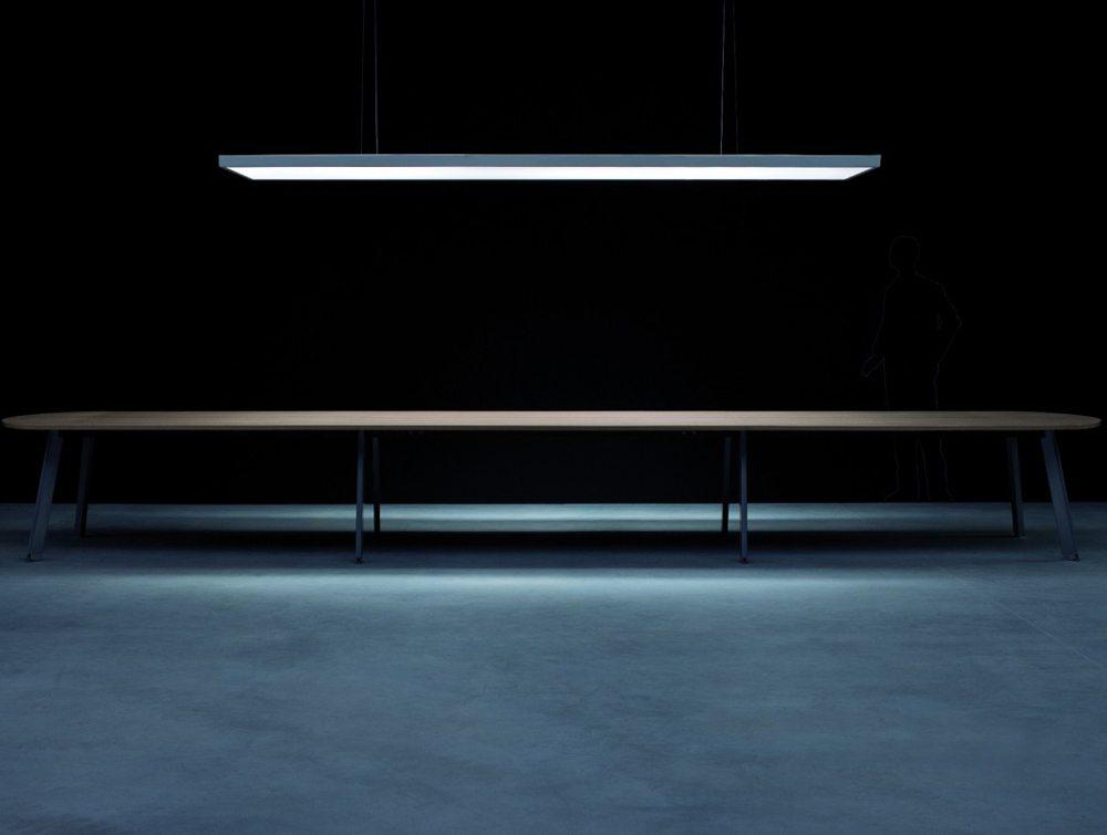 Balma Simplic Executive Modular Meeting Table with Metal Legs