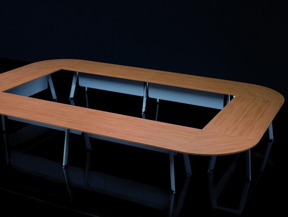 Balma Simplic Modular Meeting Table with Metal Legs