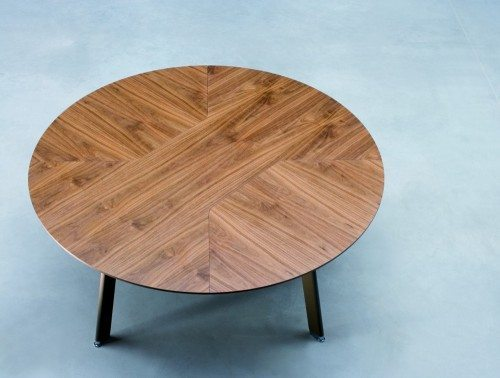 Balma Simplic Round Meeting Table with Metal Base