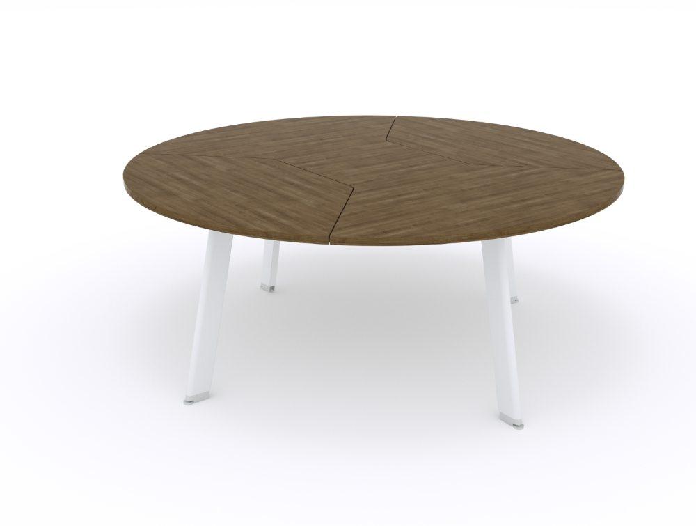 Balma Simplic Round Meeting Table with Metal Base