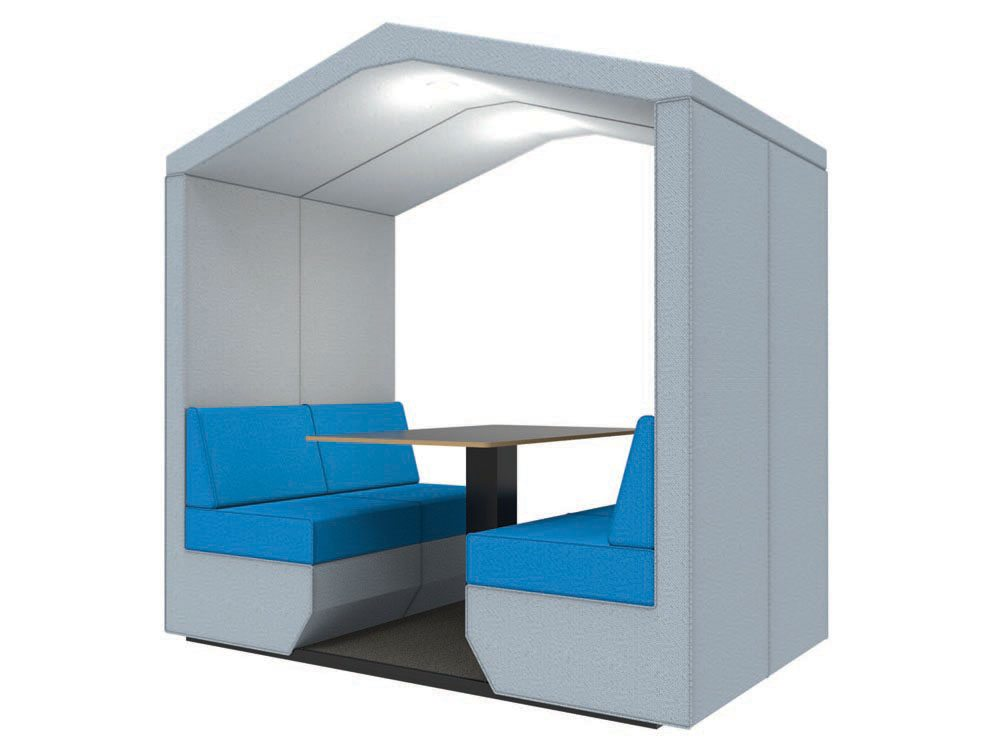 Bea 4 Seater Funky Meeting Pod with overhead led lights