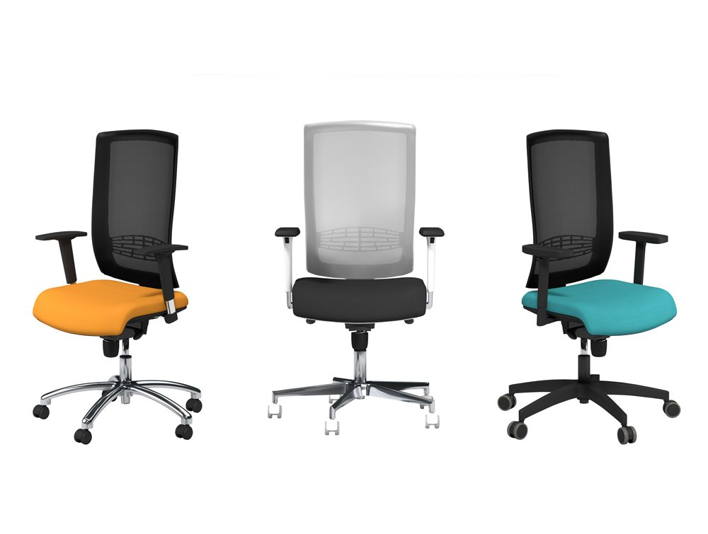 Begin Black and Grey Mesh Back Task Operator Office Chairs
