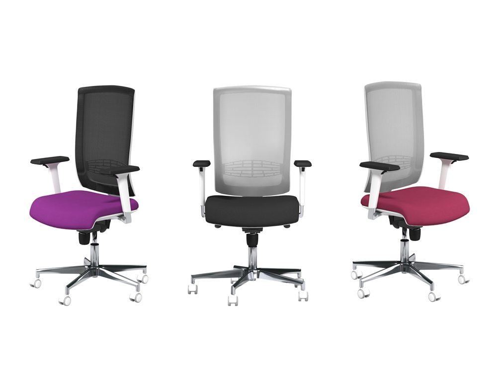 Begin Mesh Back Office Chairs with Chrome Base and Arms