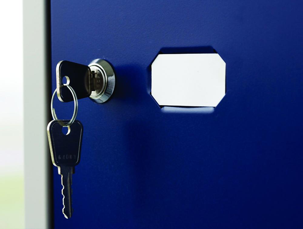 Bisley CLK Lockers Camlock with Key Closeup
