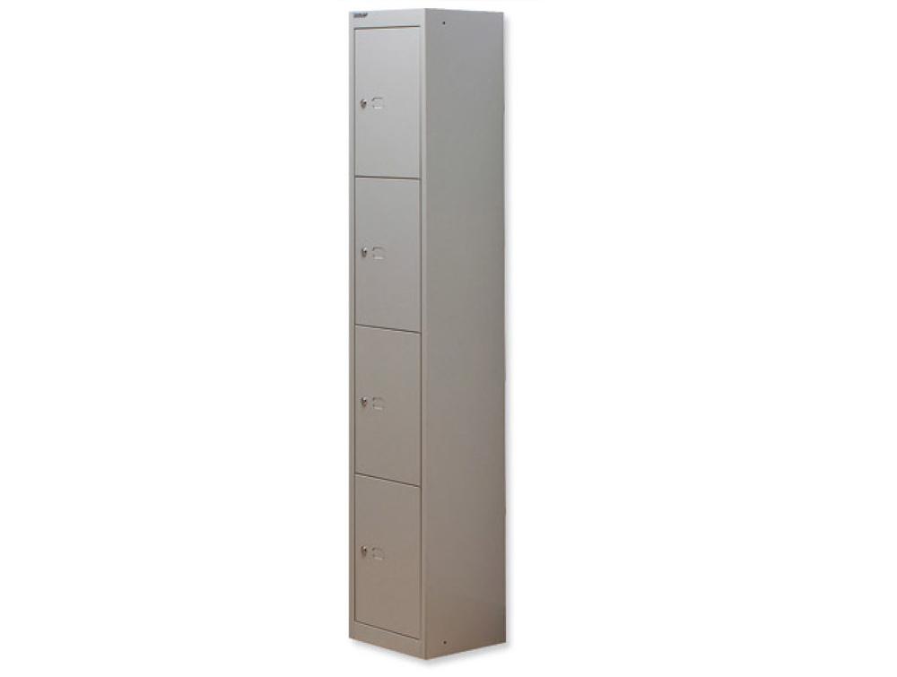 Bisley CLK Steel Locker with 4 Doors in Grey