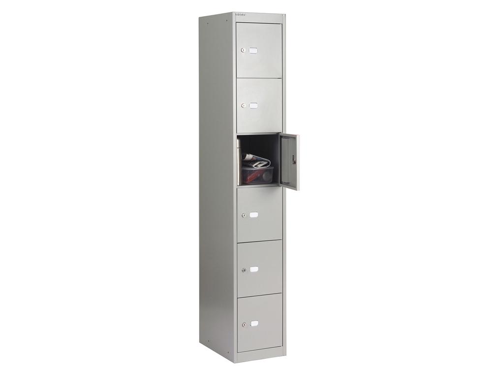 Bisley CLK Steel Locker with 6 Doors in Grey