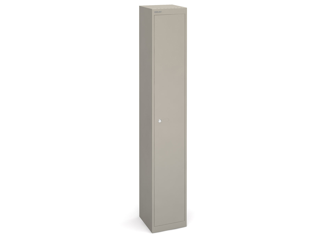 Bisley CLK Metal Locker - Grey Finish - 1-Door