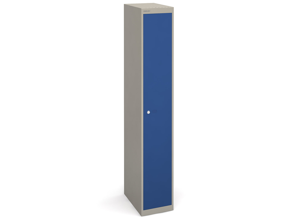 Bisley CLK Deep Metal Locker - Grey and Blue Finish - 1-Door