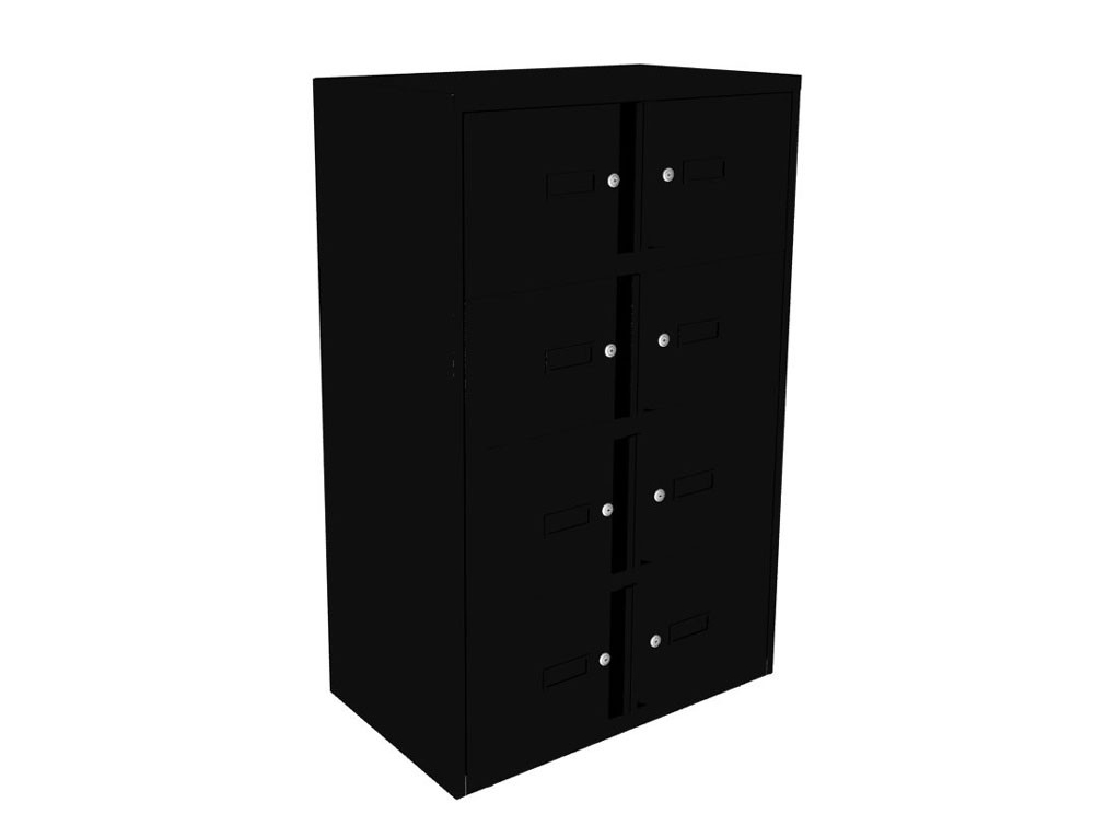 Bisley Essentials Eight Door Lodge in Black with Locks