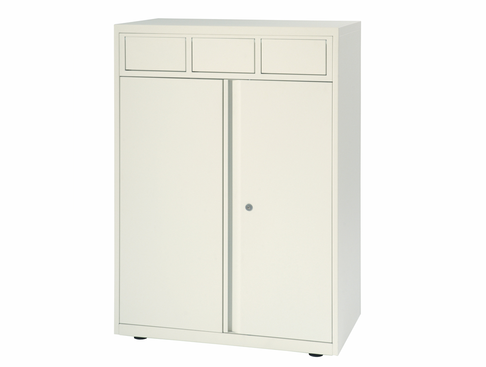 Bisley LateralFile Front-Access Recycling Unit in White