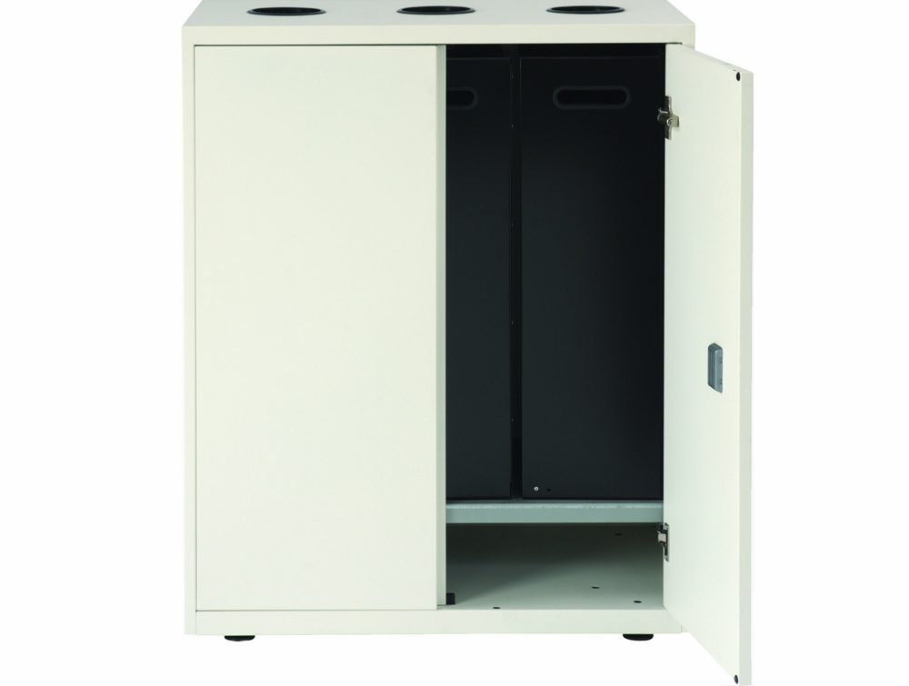 Bisley Lateralfile Top-Access Recycling White Unit Inside