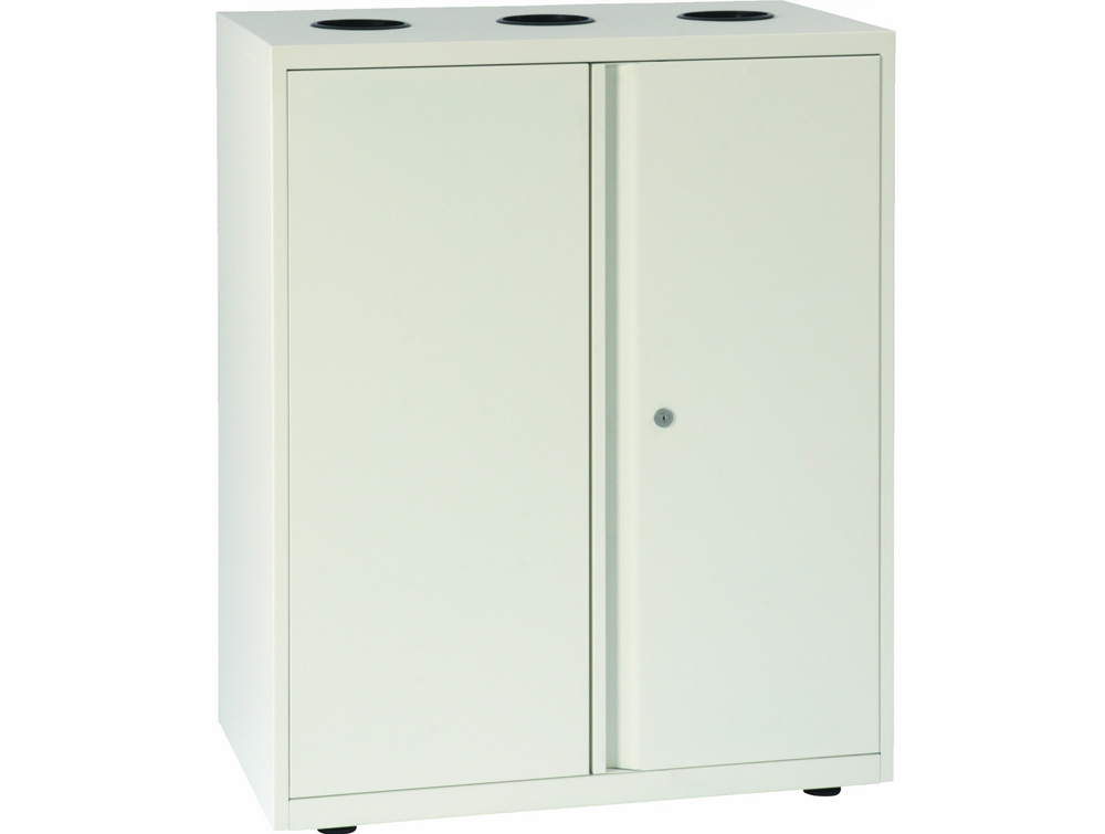 Bisley Lateralfile Top-Access Recycling White Unit with Locker