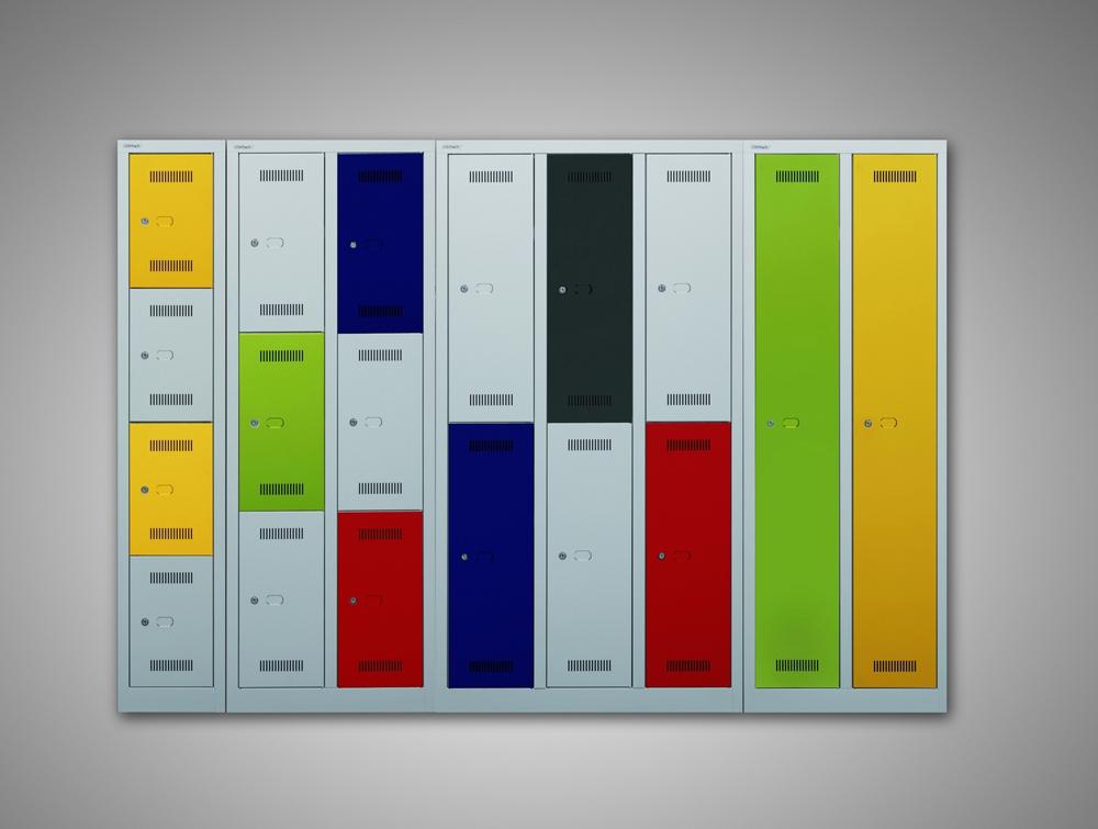 Bisley Monobloc Column Lockers Range in Multicolour