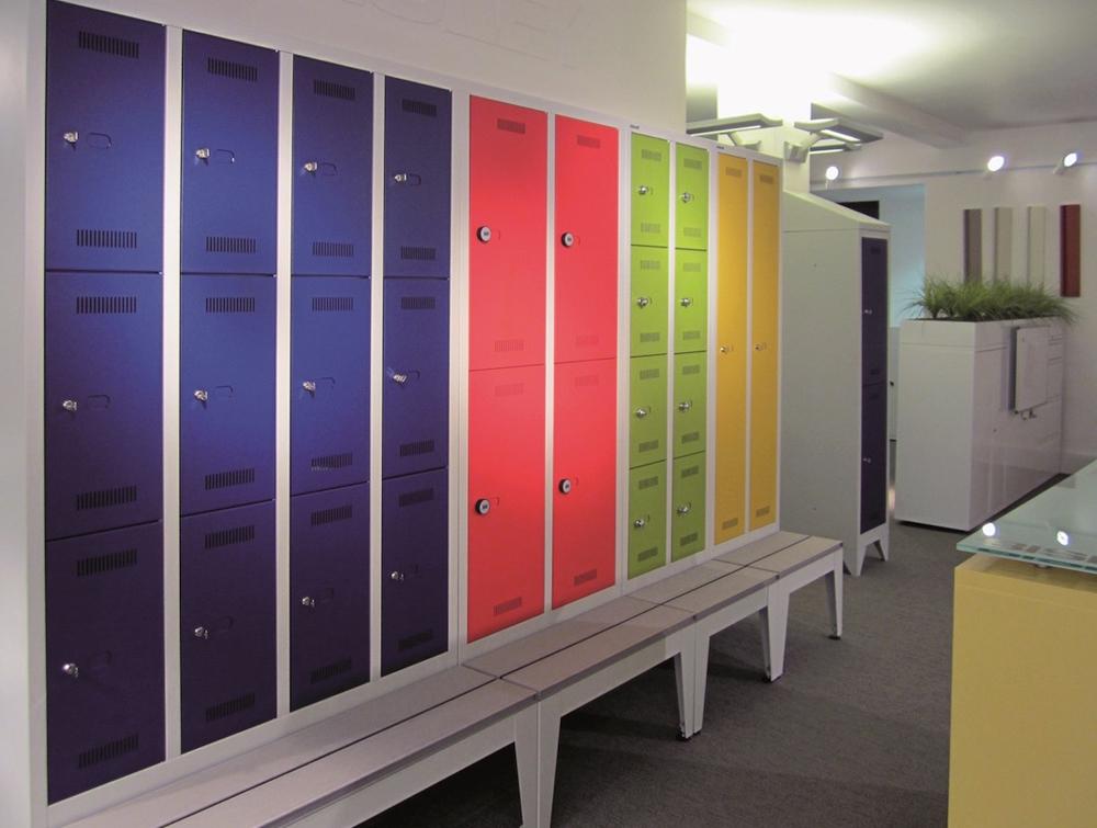 Bisley Monobloc Column Lockers in Multicolour