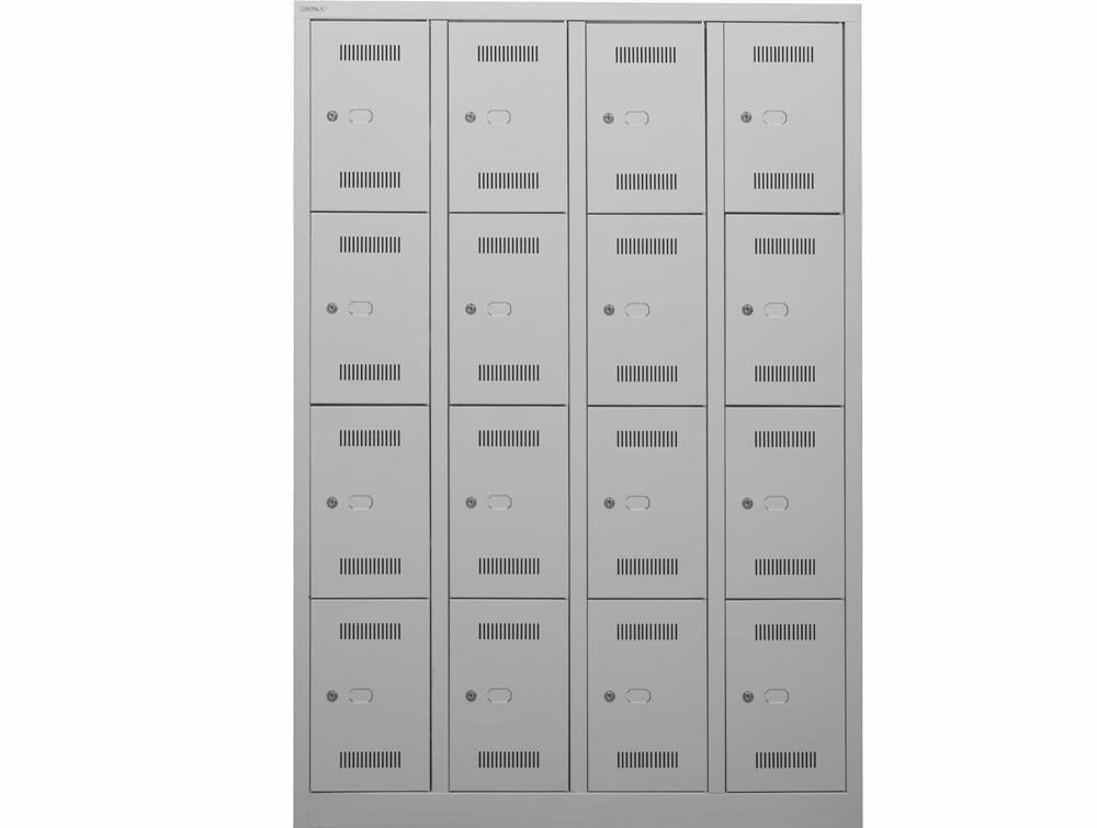 Bisley Monobloc Quadraple Column 16 Doors Front