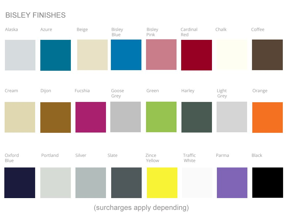 Bisley Office Furniture Colour Swatches