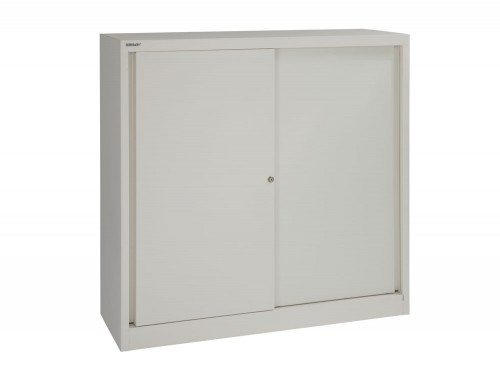 Bisley Sliding Door Cupboard with 2 Shelves 1181 high