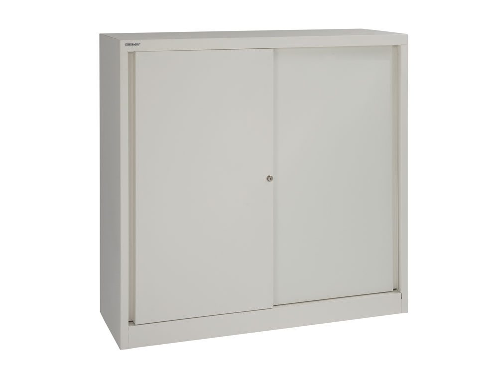 Bisley Sliding Door Cupboard with 2 Shelves 1181mm high