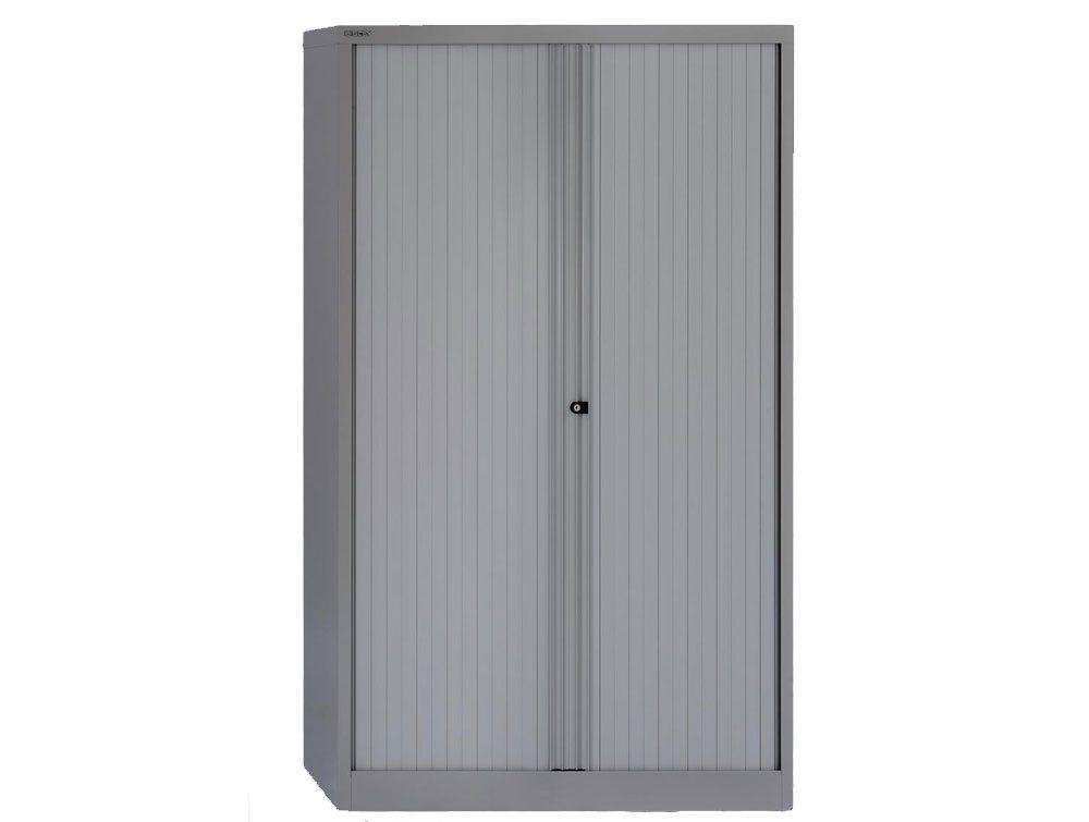 Bisley Tambour Steel Cupboard 1570mm High