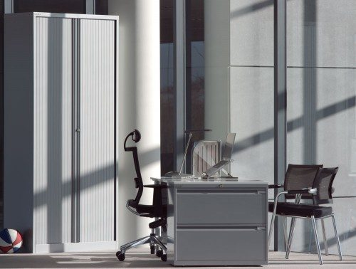 Bisley Tambour Steel Cupboard 2229mm high