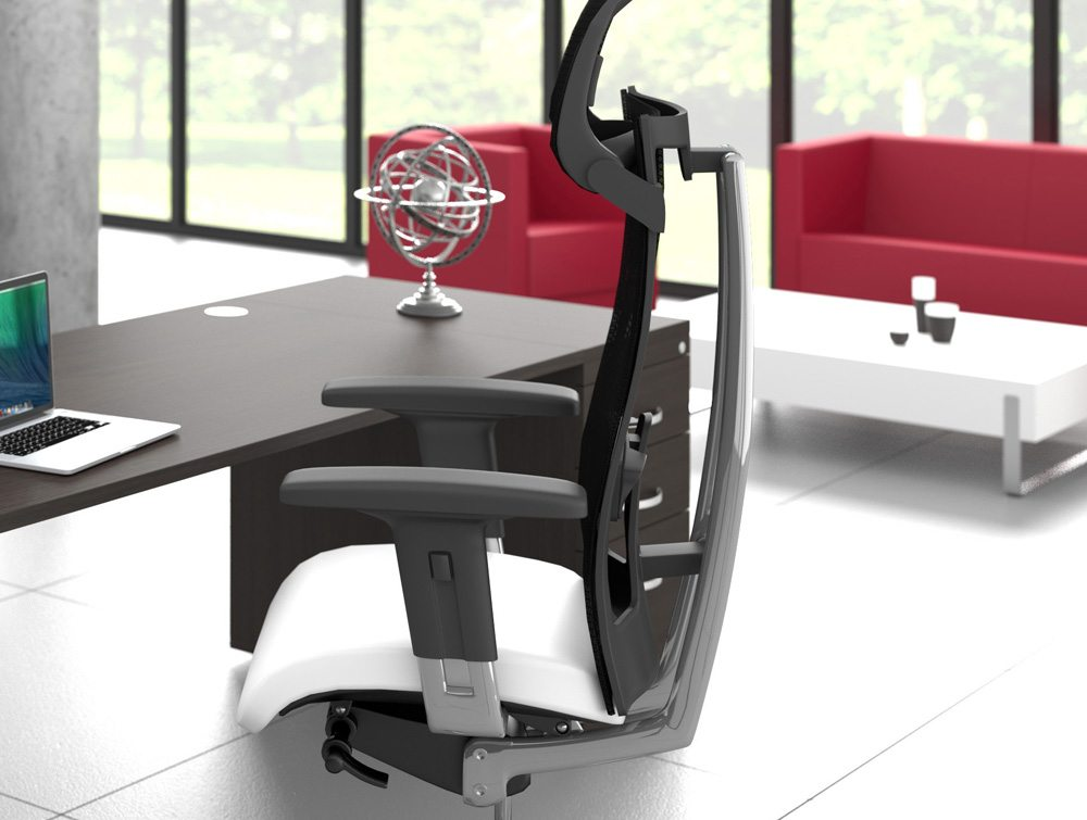 Black Executive Switch Desk with Pedestal