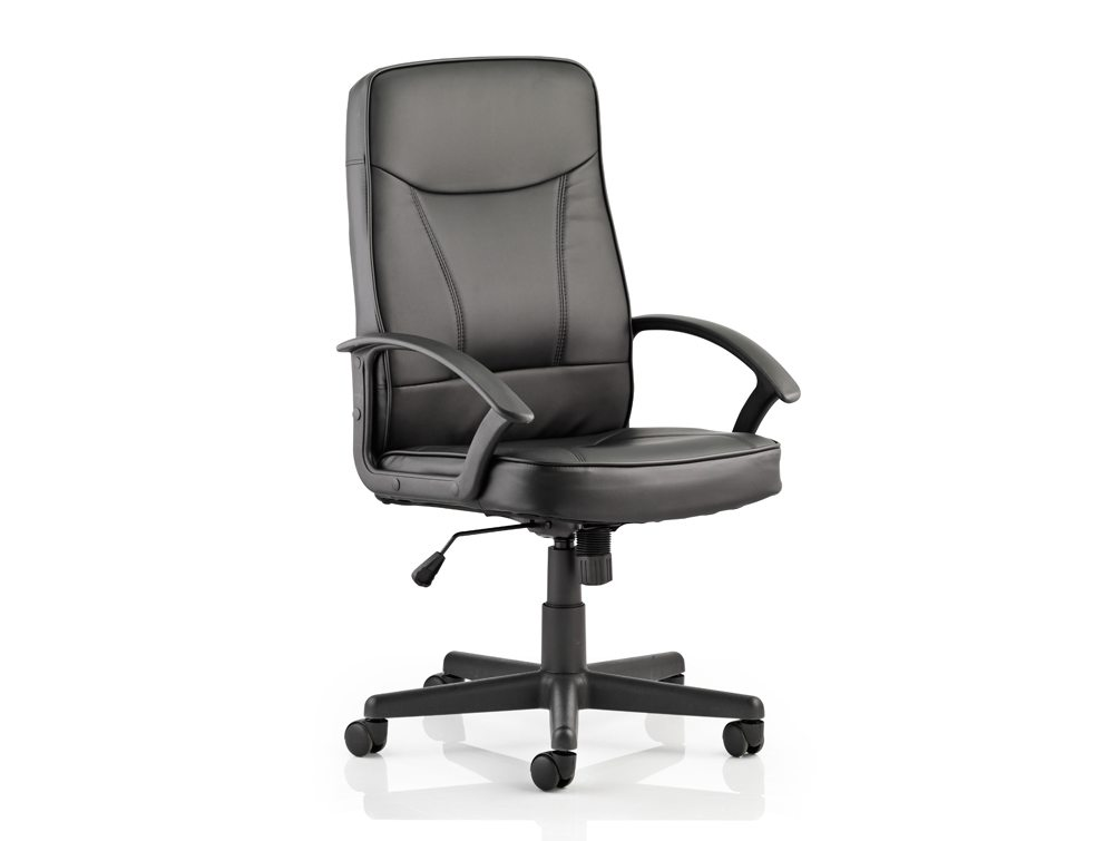 Blitz Executive Black Chair Black Bonded Leather With Arms Featured Image
