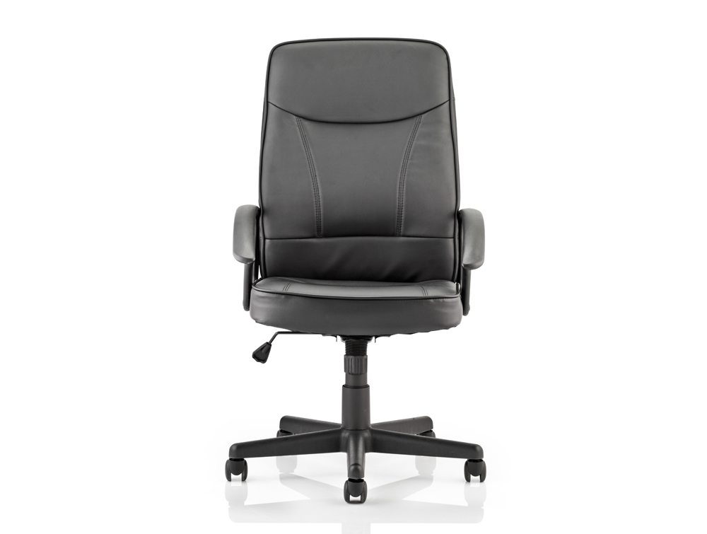 Blitz Executive Black Chair Black Bonded Leather With Arms Image 3