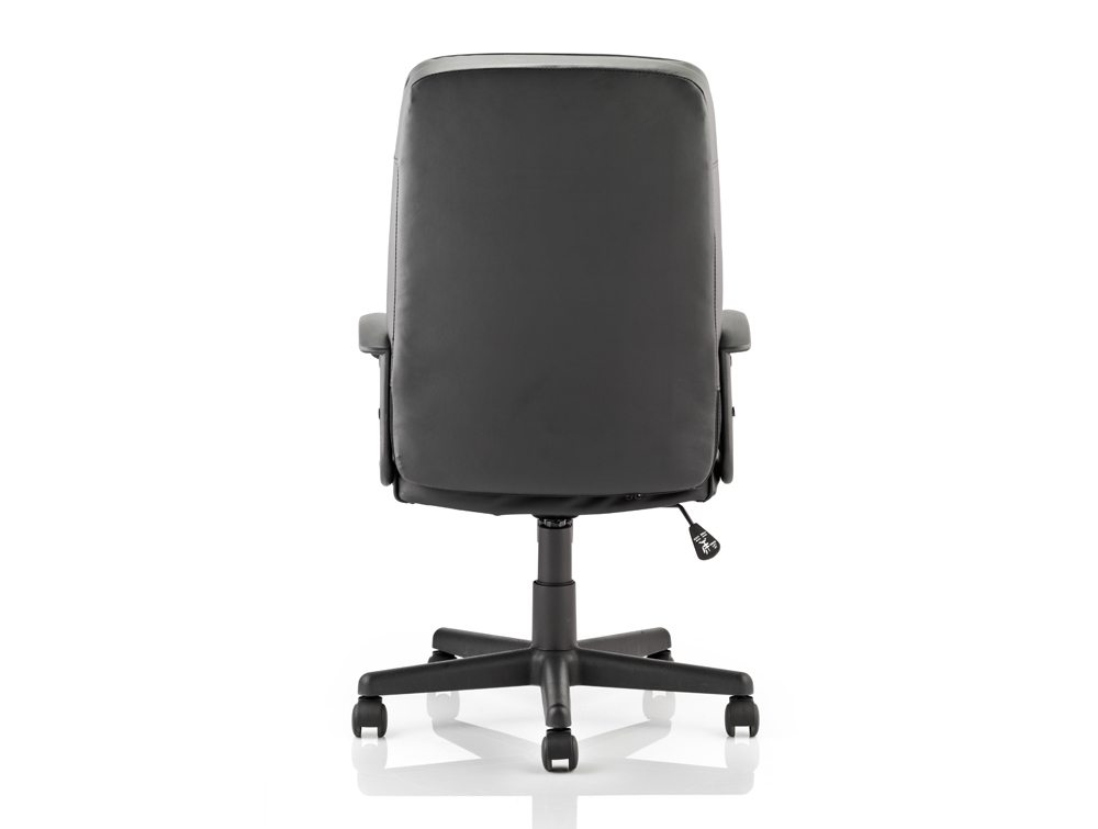 Blitz Executive Black Chair Black Bonded Leather With Arms Image 5