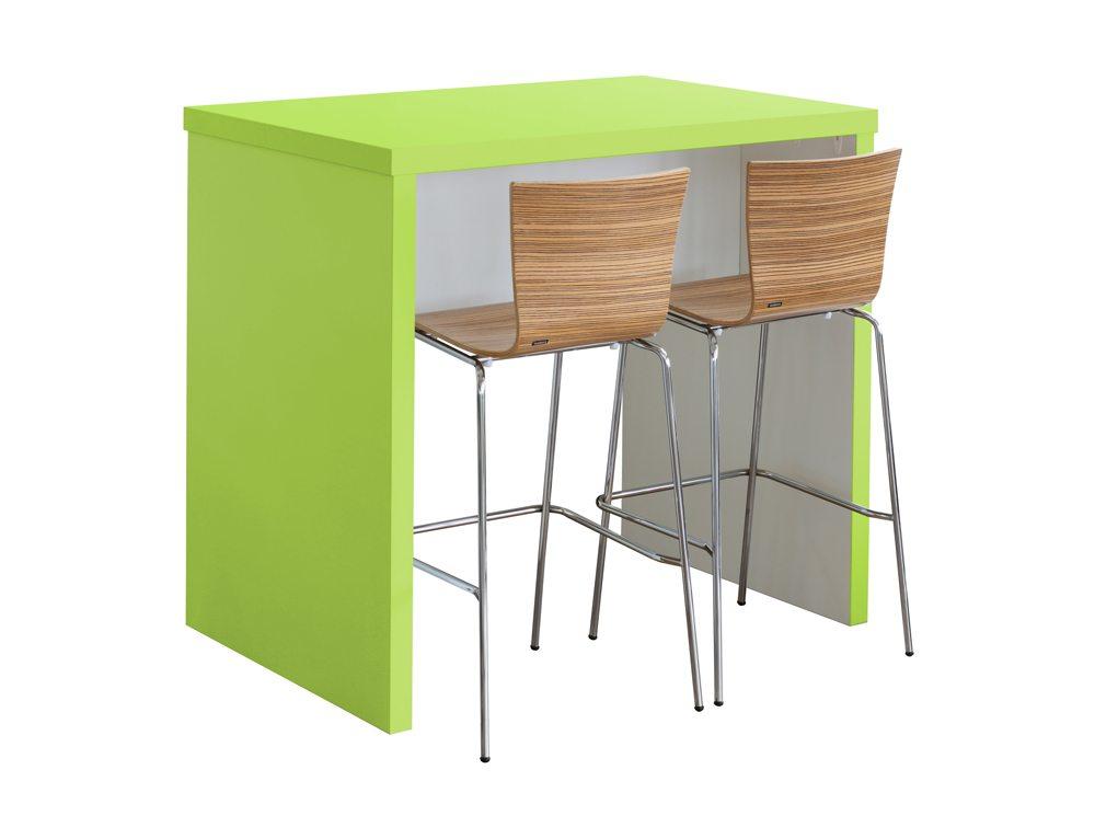Block Colour Poseur Canteen Table Green