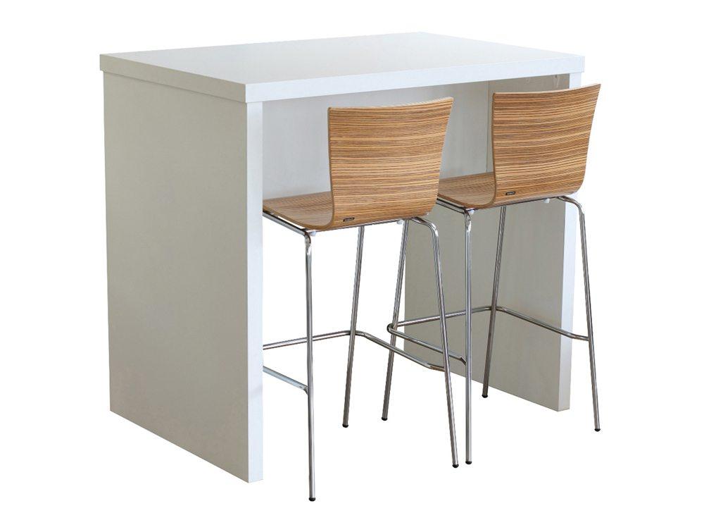 Block Colour Posuer Canteen Table White