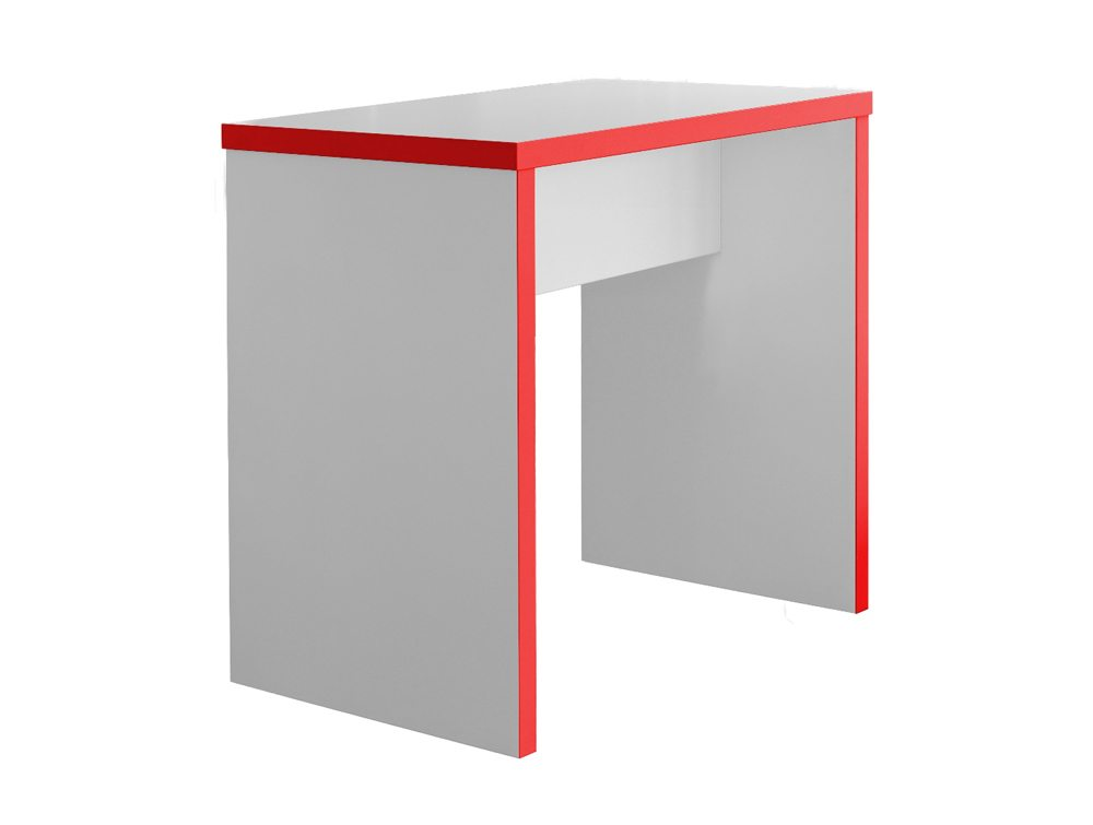 Block Colour Posuer Canteen Table in White and Red