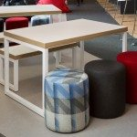 Block Steel White Canteen Table and Benches Office Breakout Area