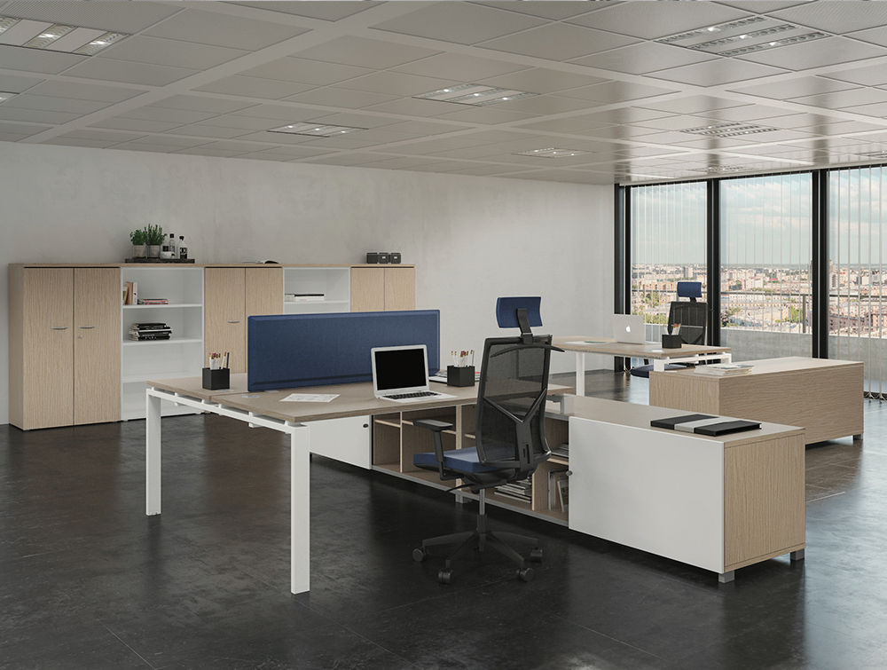 Buronomic Astro Desk for Open Space 4 on B-box storage with Tonus seats.jpg