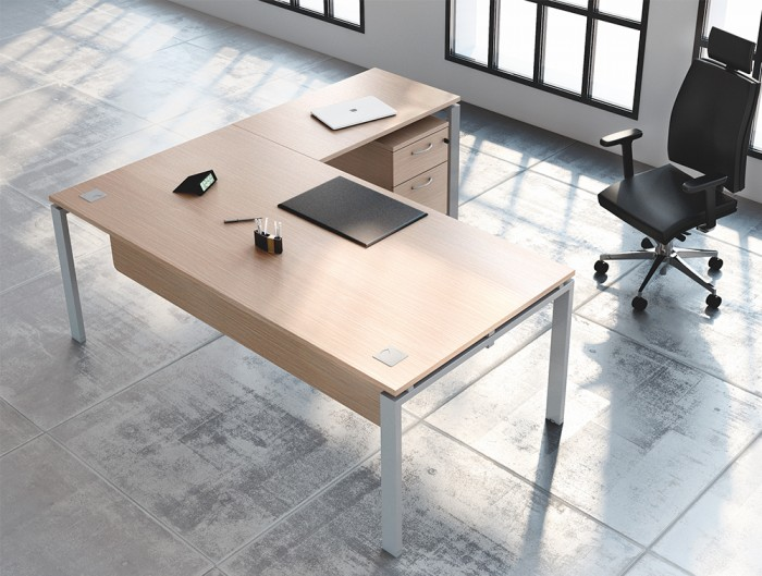 Buronomic Astro Executive Sober Desk 3 with return and suspended modesty panel.jpg