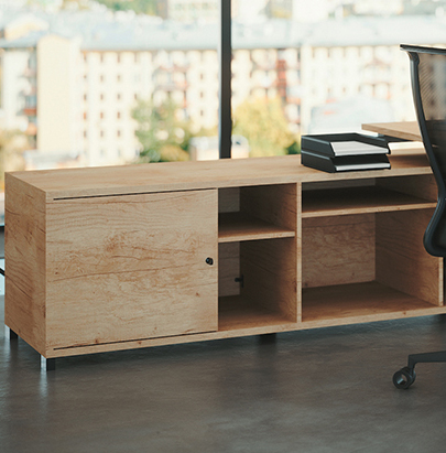 Buronomic Astro Executive Sober Desk 4 with return storage in Nebraska Oak finish.jpg