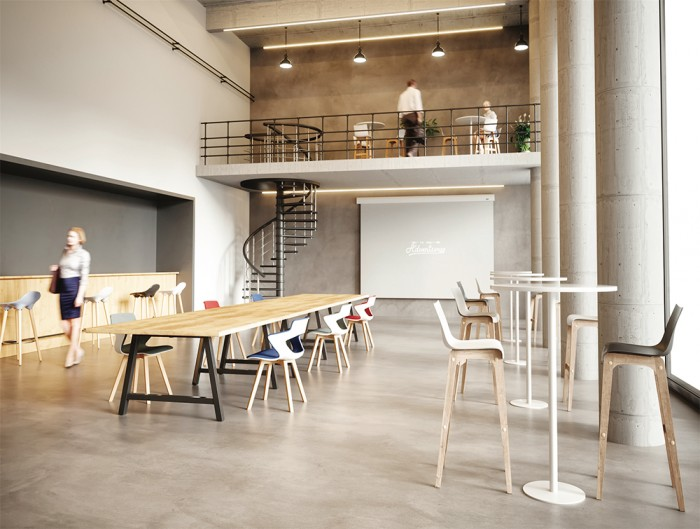 Buronomic Detente High Table 5 in Cafeteria.jpg