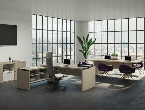Buronomic Elթgance Desk Enhanced by Metallised Edges 2 with return storage unit.jpg