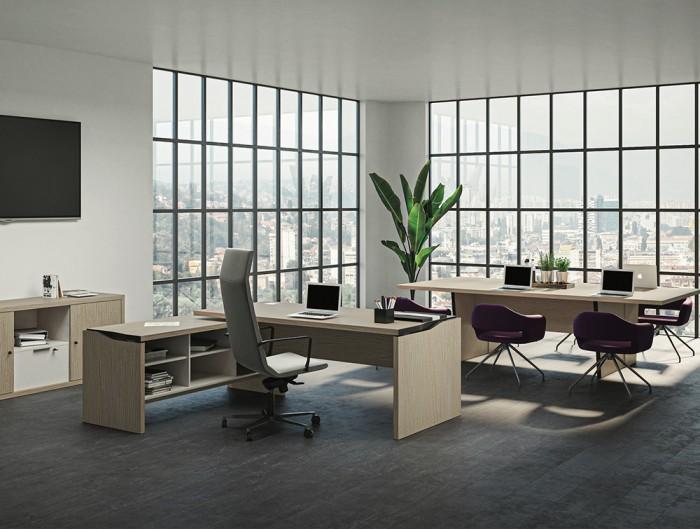 Buronomic El?gance Desk Enhanced by Metallised Edges 2 with return storage unit.jpg
