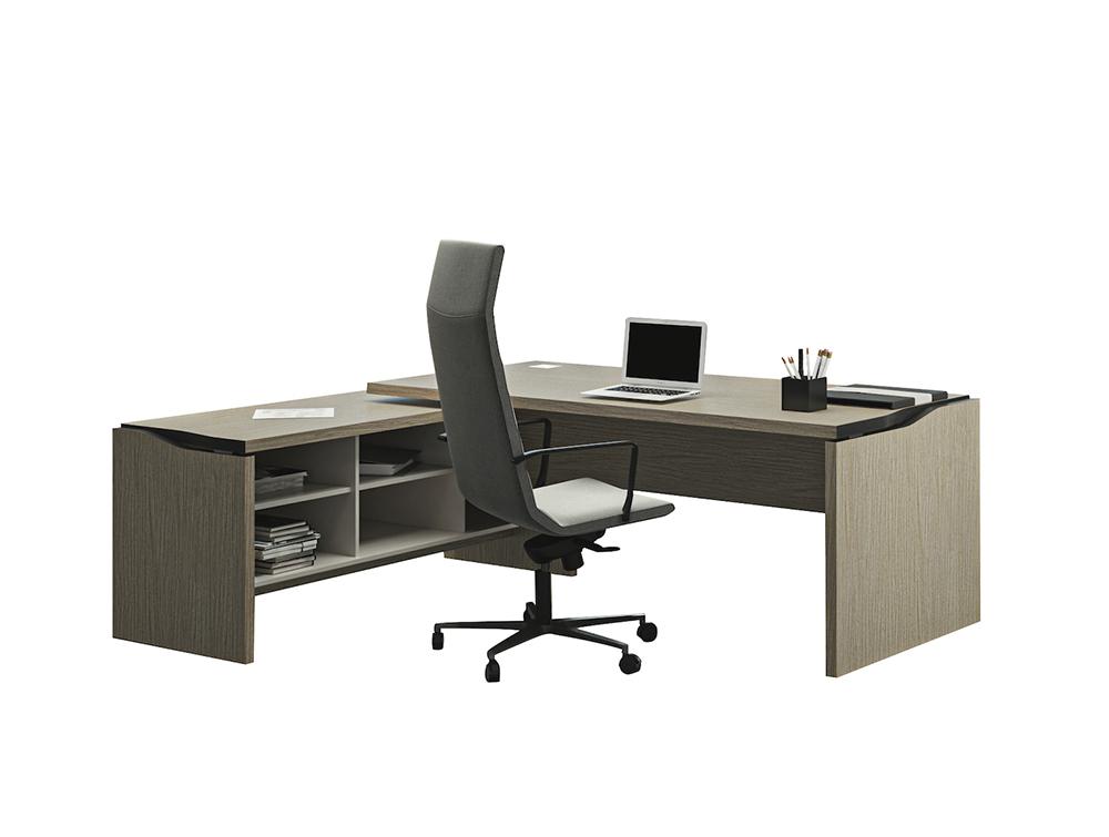 Buronomic Elegance Desk Enhanced by Metallised Edges