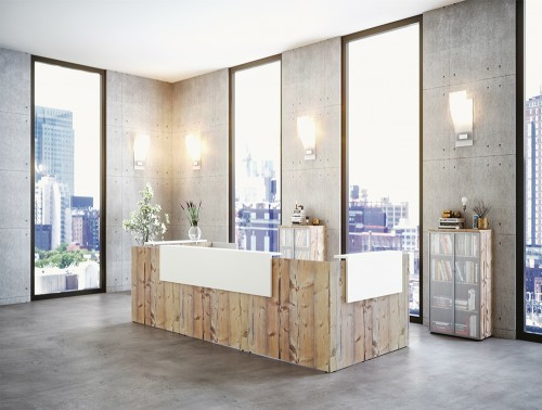 Buronomic Fifty-Full Modular Reception Counter 2 in Timber and White Configuration.jpg