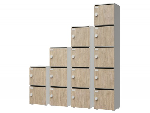 Buronomic Perso Lockers with Doors Fitted with Label Holders