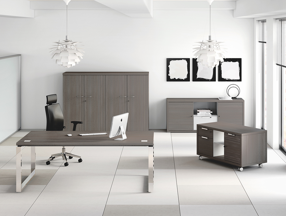 Buronomic Prestige Contemporary Executive Desk 6 with Wood Tone Finishes and Metal Legs.jpg